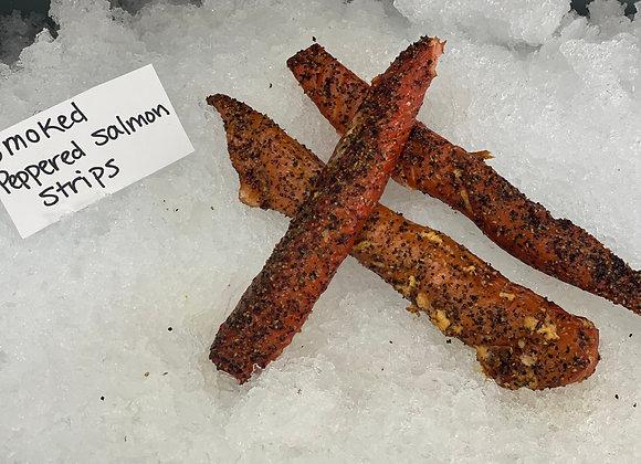 Peppered Smoked Salmon Sticks 1-5 pounds
