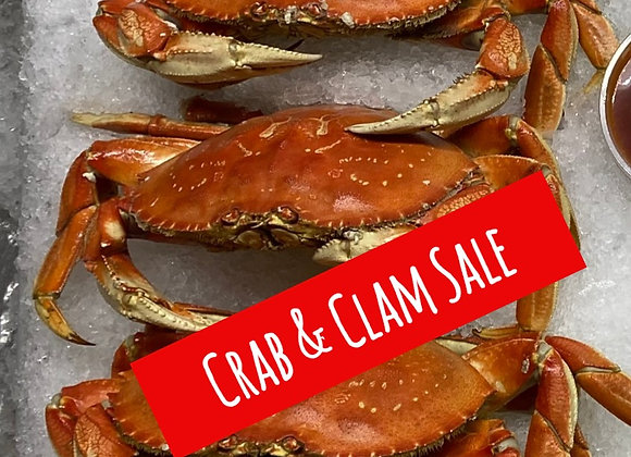 5 Whole Crab & 3 Pounds of Clams Special