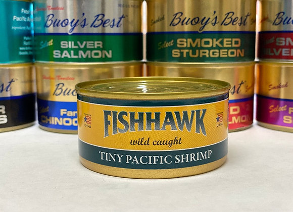 Tiny Pacific Shrimp Meat   Case 24 Cans