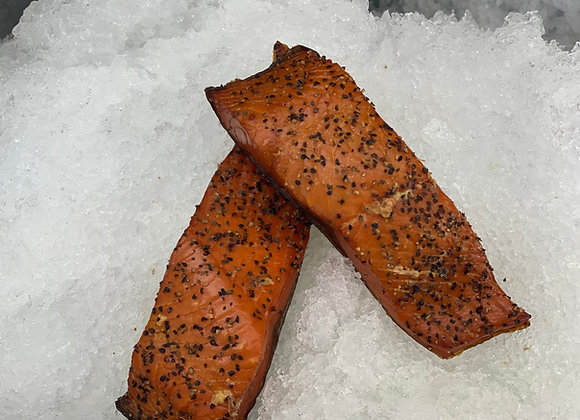 Peppered Smoked Salmon Chubs- Choose 1,2,3,4 or 5 pounds