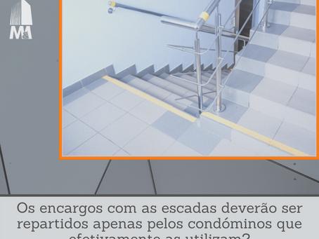 Os encargos com as escadas deverão ser repartidos apenas pelos condóminos que efetivamente utilizam?
