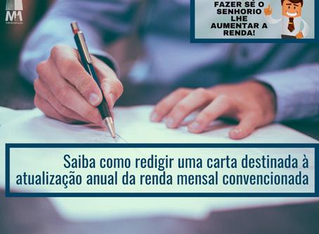 Carta destinada à atualização anual da renda mensal convencionada