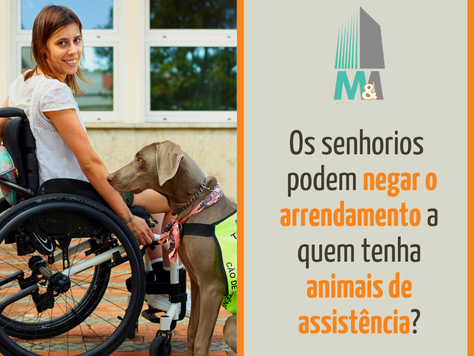 Os senhorios podem negar o arrendamento a quem tenha animais de assistência?