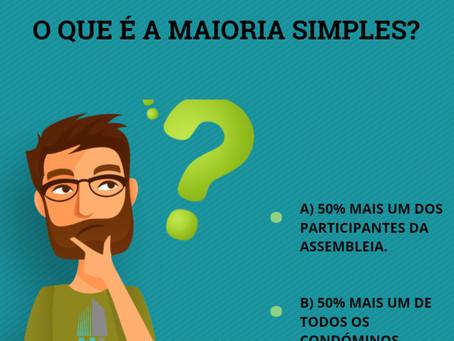 O QUE É A MAIORIA SIMPLES?