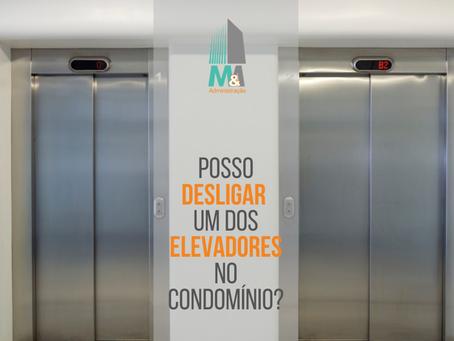 Posso desligar um dos elevadores no condomínio?