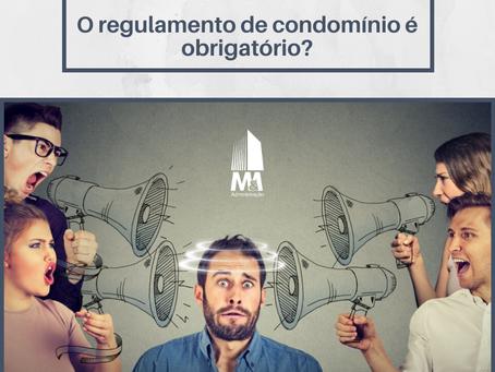 O regulamento de condomínio é obrigatório?