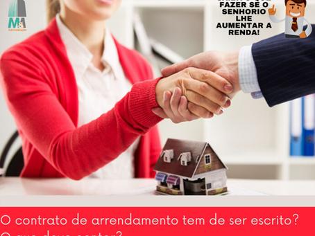 O contrato de arrendamento tem de ser escrito? O que deve constar no contrato?