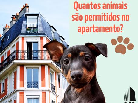 Quantos animais são permitidos por apartamento?