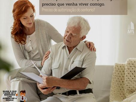 O meu pai tem uma doença prolongada e tem de viver comigo. Preciso da autorização do senhorio?