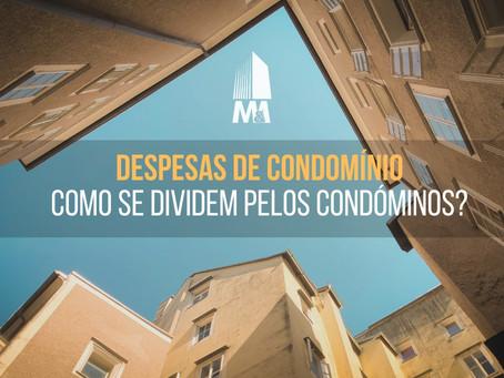 Despesas de condomínio. Como se dividem pelos condóminos?
