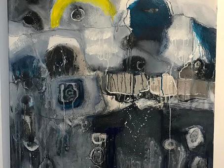 Landschaft graublau I