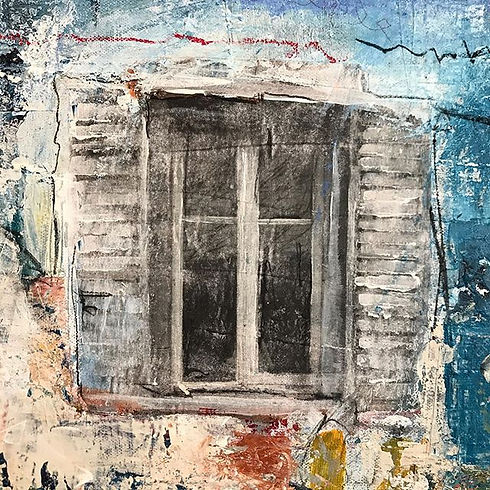 Regard de la fenêtre  #acrylmalerei #art