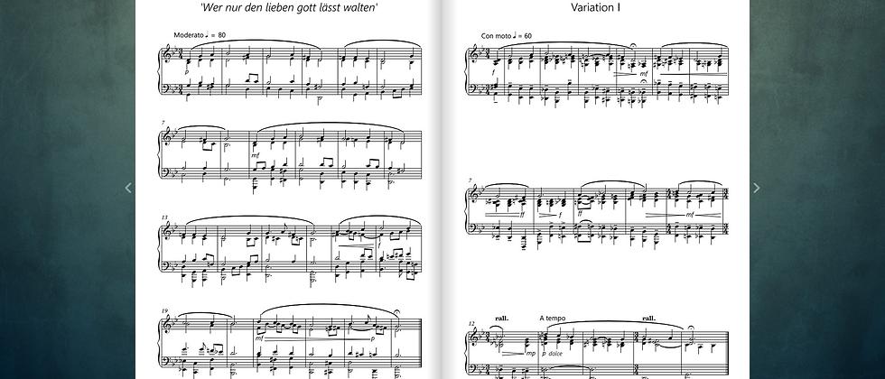 9 Variations on 'Wer nur den lieben gott lässt walten' for Piano Solo