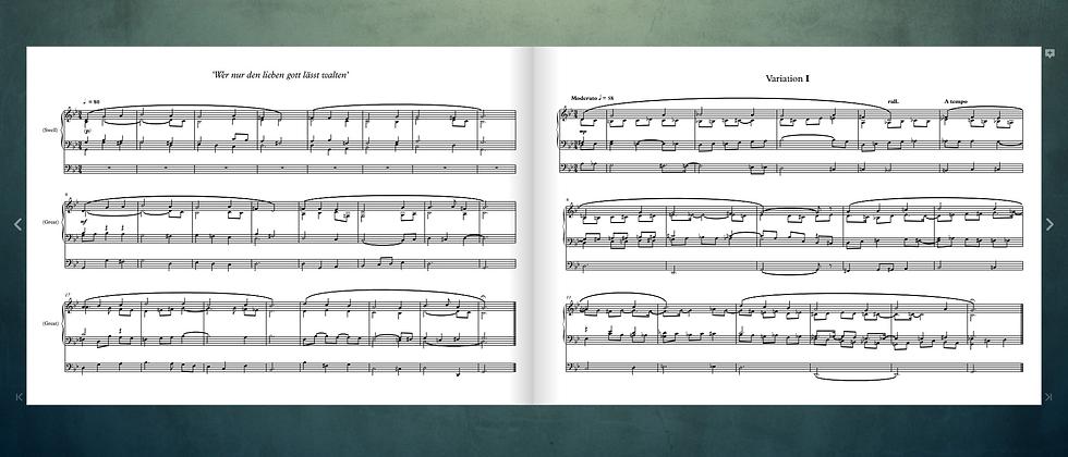 8 Variations on 'Wer nur den lieben gott lässt walten', for Organ Solo