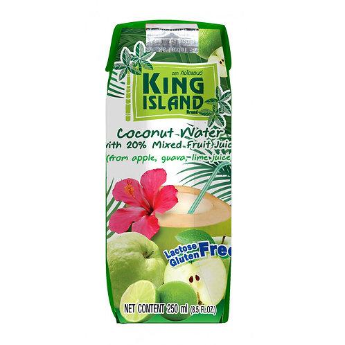 Кокосовый напиток King Island с фр. соком лайм, гуава, яблоко 250мл (36 шт.)