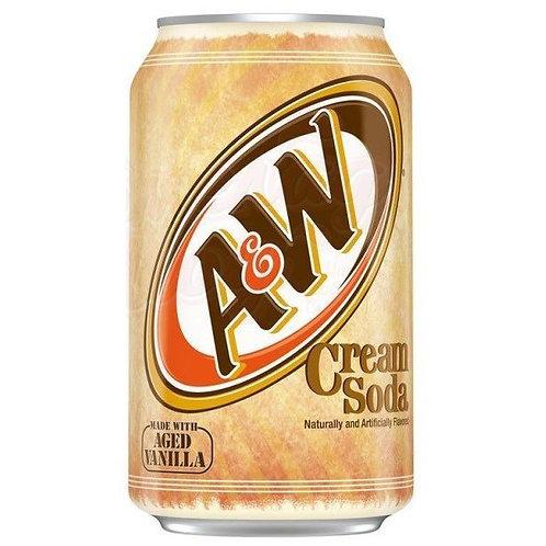 A&W газированный напиток Cream Soda ж/б 355мл (24шт)