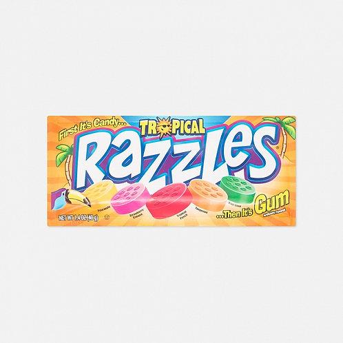 Конфета - жевательная резинка Tropical Razzles (24 шт.)