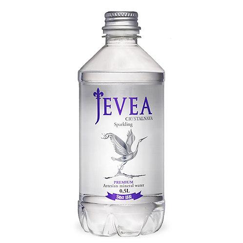 Вода Jevea | Минеральная с газом 0,5 л (12 шт)