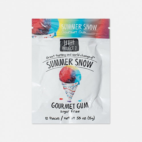 Жевательная резинка Project 7 Summer Snow Ice Cream (12 шт.)