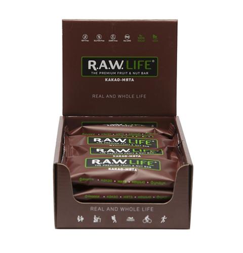 Батончики RAW Life | Какао-мята