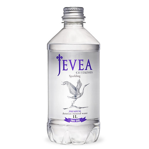 Вода JEVEA CRYSTALNAYA | Минеральная с газом 1 л (6 шт)