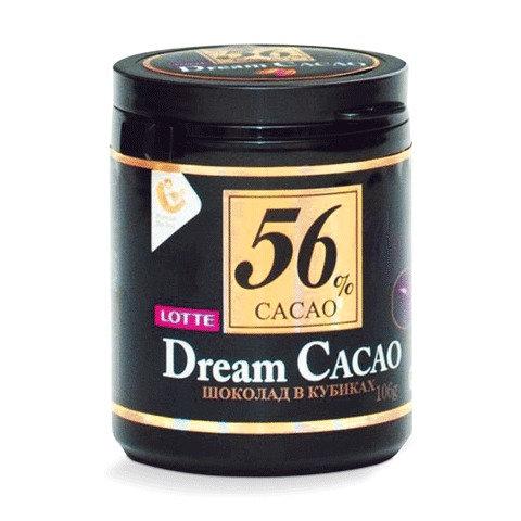 Шоколад LOTTE Dream Cacao 56% (шоколад в кубиках) 106гр/24шт