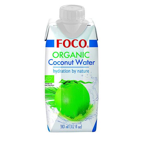 FOCO Кокосовая вода 330 мл (12 шт.) USDA Organic