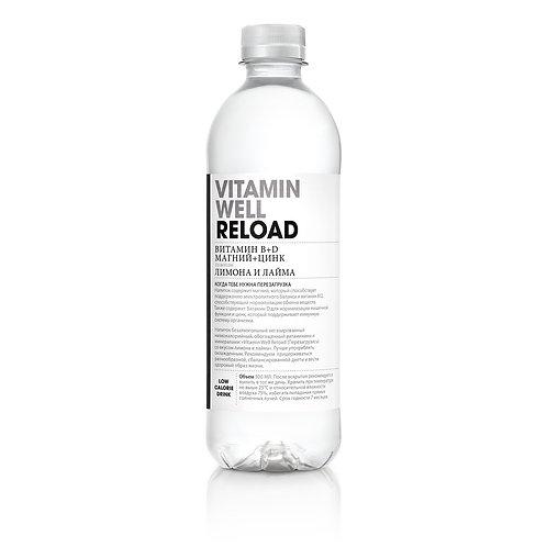 Витаминная вода Vitamin Well Лимон-лайм (Reload) 0.5л
