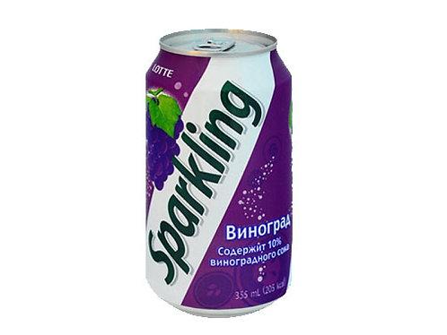 Сокосодержащий газированный напиток Sparkling Виноград ж/б 355 мл (24 шт)