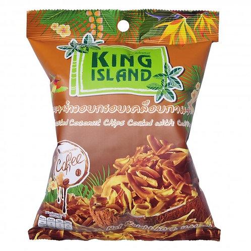 Кокосовые чипсы King Island в кофейной глазури (24 шт.)