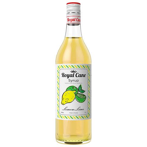 Сироп Royal Cane Лимон-лайм 1 литр, стекло (6 шт.)