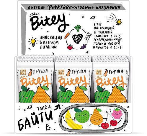 Батончик Bitey | Груша, фруктово-ягодный, 25г (30 шт)