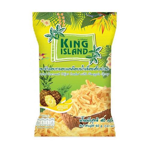 Кокосовые чипсы King Island с ананасом (24 шт.)