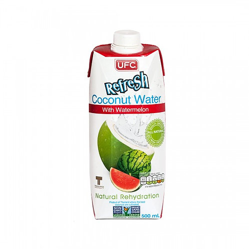 Кокосовая вода UFC Refresh с арбузом, 500 мл
