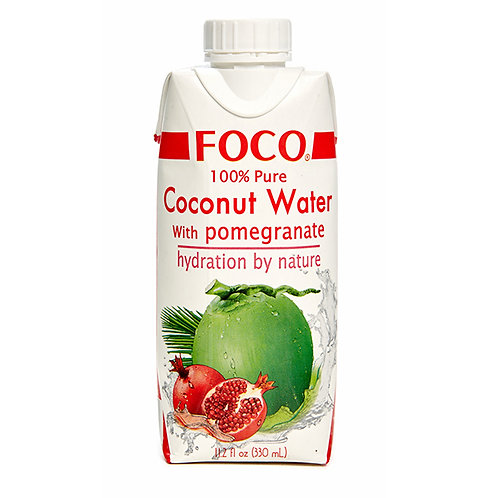 FOCO Кокосовая вода с соком граната без сахара (12 шт.)