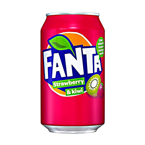 Напиток Fanta - Strawberry-Kiwi, газ 0,33л