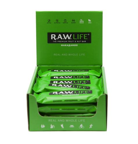 Батончики RAW Life | Макадамия
