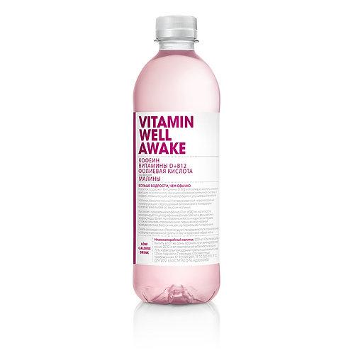 Витаминная вода Vitamin Well Малина (Awake) 0.5л