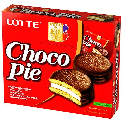 Пирожное Choco Pie Lotte 12шт (8шт в упаковке)