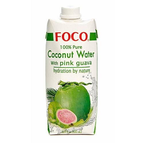 FOCO Кокосовая вода с розовой гуавой (12 шт.)