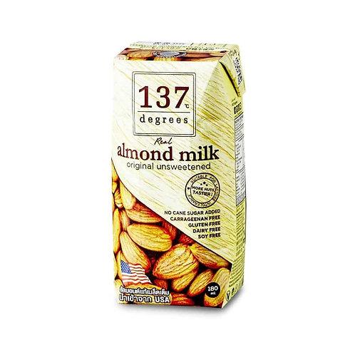 Миндальное молоко 137 Degrees без сахара, 180 мл