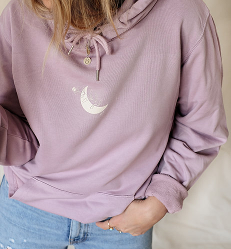 """Hoodie Unisex Vintage lilac """"Moonflower"""""""