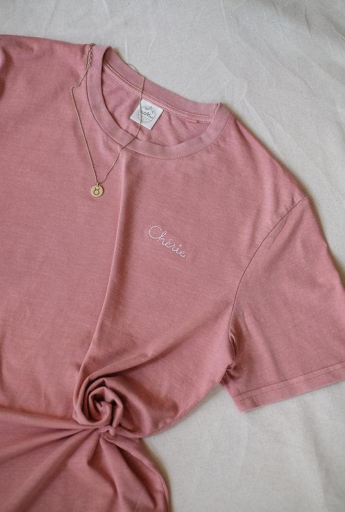 """T-Shirt Unisex """"Vintage"""" Dusky Rosé • Chérie"""