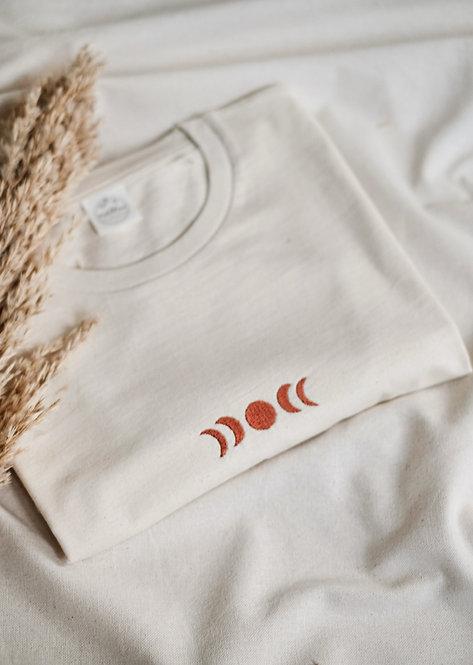 T-Shirt Unisex Natural Raw • Moonphase •