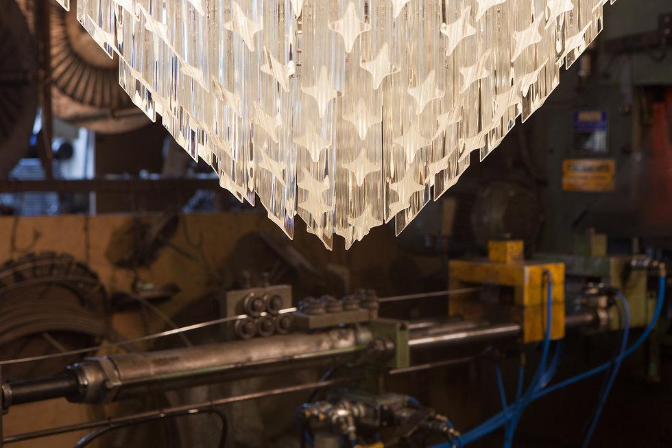 Murano Tiered chandelier detail