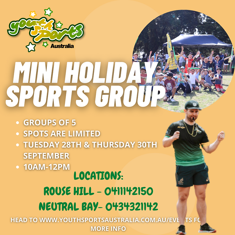 September School Holidays Mini Sports Groups