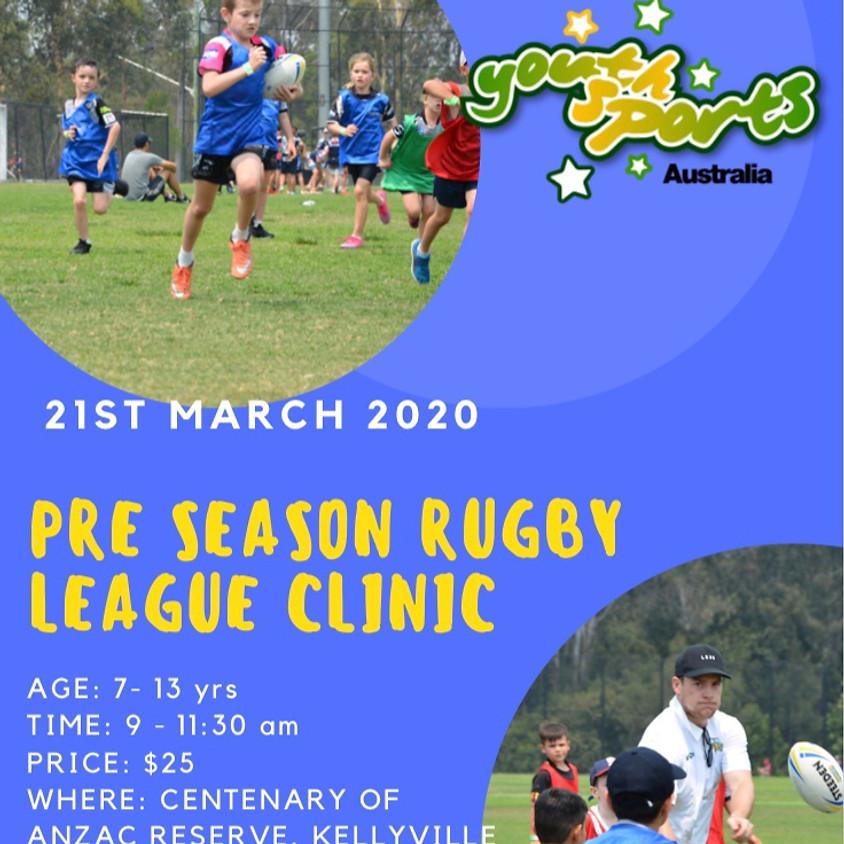 YSA Pre-Season Rugby League Clinic
