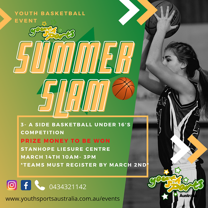 3 v 3 Youth Sports Basketball Competition