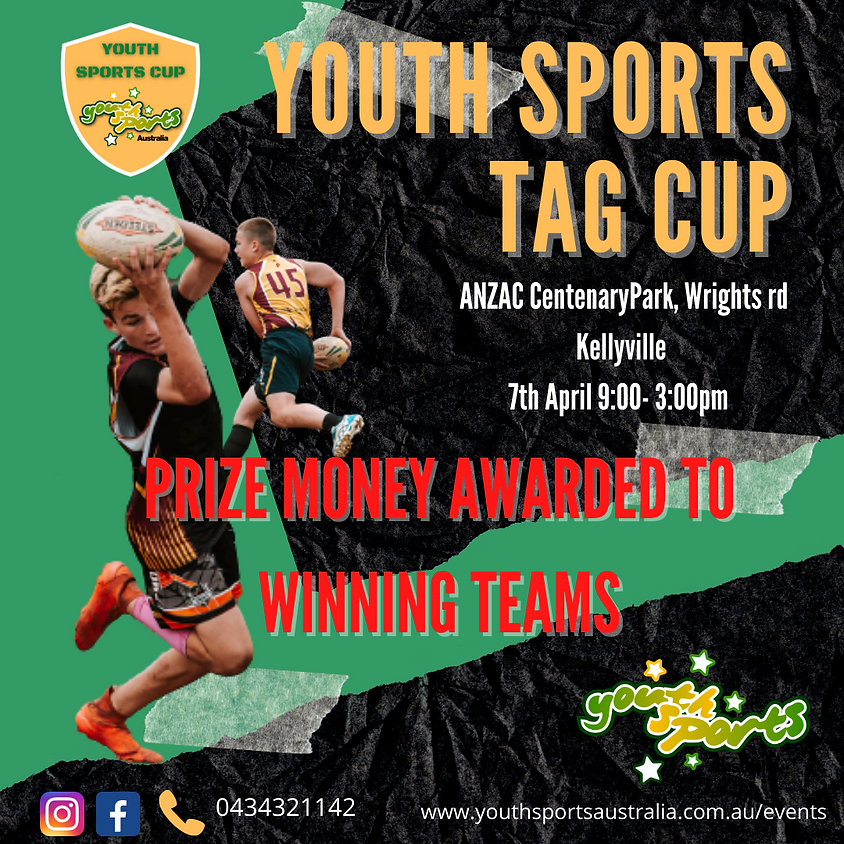 Youth Sports Tag Cup