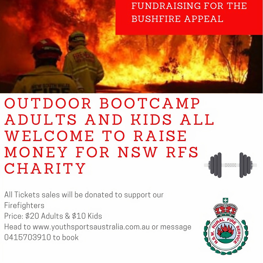 FAMILY BUSHFIRE APPEAL BOOTCAMP